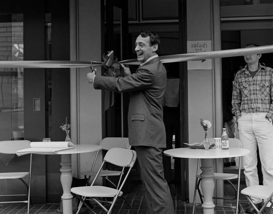 Supervisor Harvey Milk as Deputy Mayor for a day at the Dedication of a Cafe at One United Nations Plaza in SF, Mar. 7, 1978. Photo: Daniel Nicoletta 1978