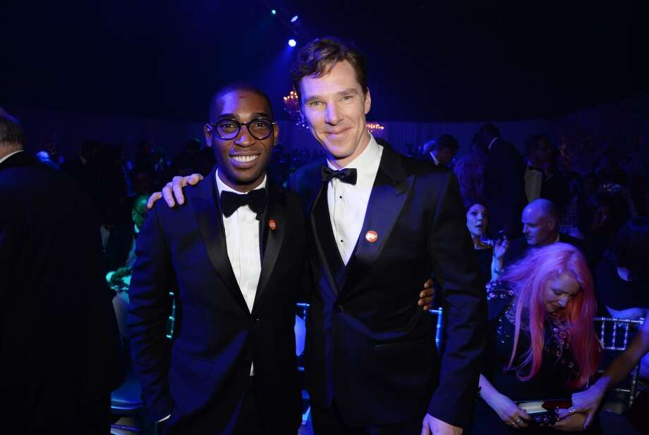 Tinie Tempah and Benedict Cumberbatch attend the Winter Whites Gala In Aid Of Centrepoint on November 26, 2013 in London, England. (Photo by Dave J Hogan/Centrepoint/Getty Images) Photo: Dave J Hogan/Centrepoint