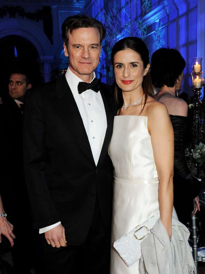 Colin Firth (L) and Livia Firth attend the Winter Whites Gala in aid of Centrepoint at Kensington Palace on November 26, 2013 in London, England.  (Photo by David M.Benett/Centrepoint/Getty Images for Centrepoint) Photo: David M.Benett/Centrepoint