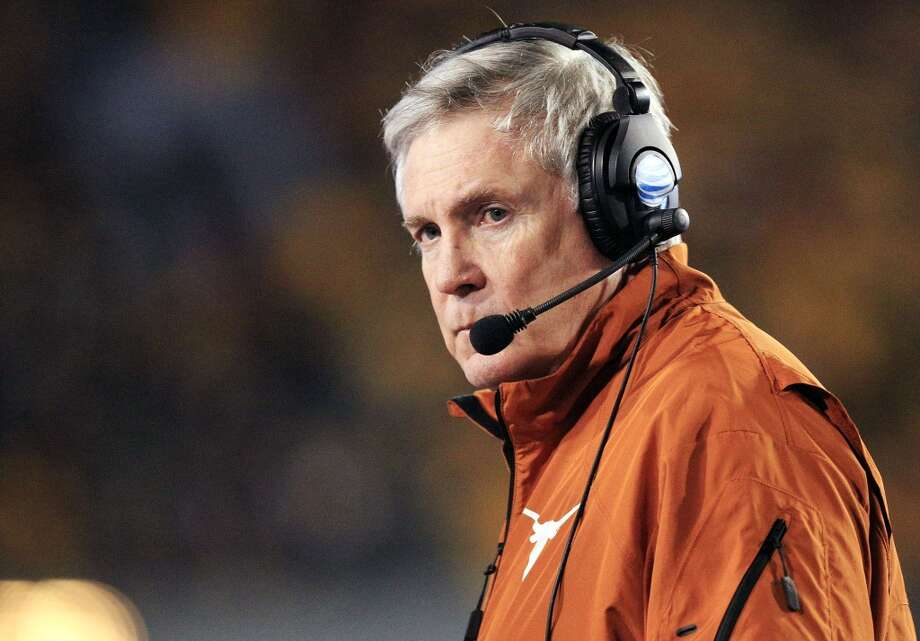 Thursday  Texas Tech (7-4, 4-4 Big 12) at Texas (7-3, 6-1) 6:30 p.m. Fox Sports 1  If Mack Brown and the Longhorns are going to win the Big 12, they must have the following happen: 1) UT must beat Texas Tech on Thanksgiving, 2) Oklahoma State must lose to Oklahoma on Dec. 7 and 3) Texas must upset Baylor on Dec 7. Photo: Christopher Jackson, Associated Press