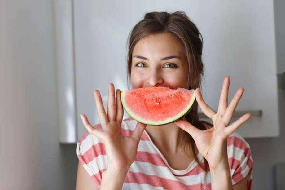 """Melon""-coly over feeling bloated? Gobble down some melons (watermelons, cantelope, etc.) to help flush out toxins. Photo: Philipp Nemenz, Getty Images/Cultura RF / Cultura RF"