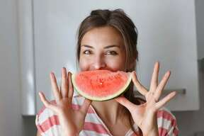 """""""Melon""""-coly over feeling bloated? Gobble down some melons (watermelons, cantelope, etc.) to help flush out toxins."""