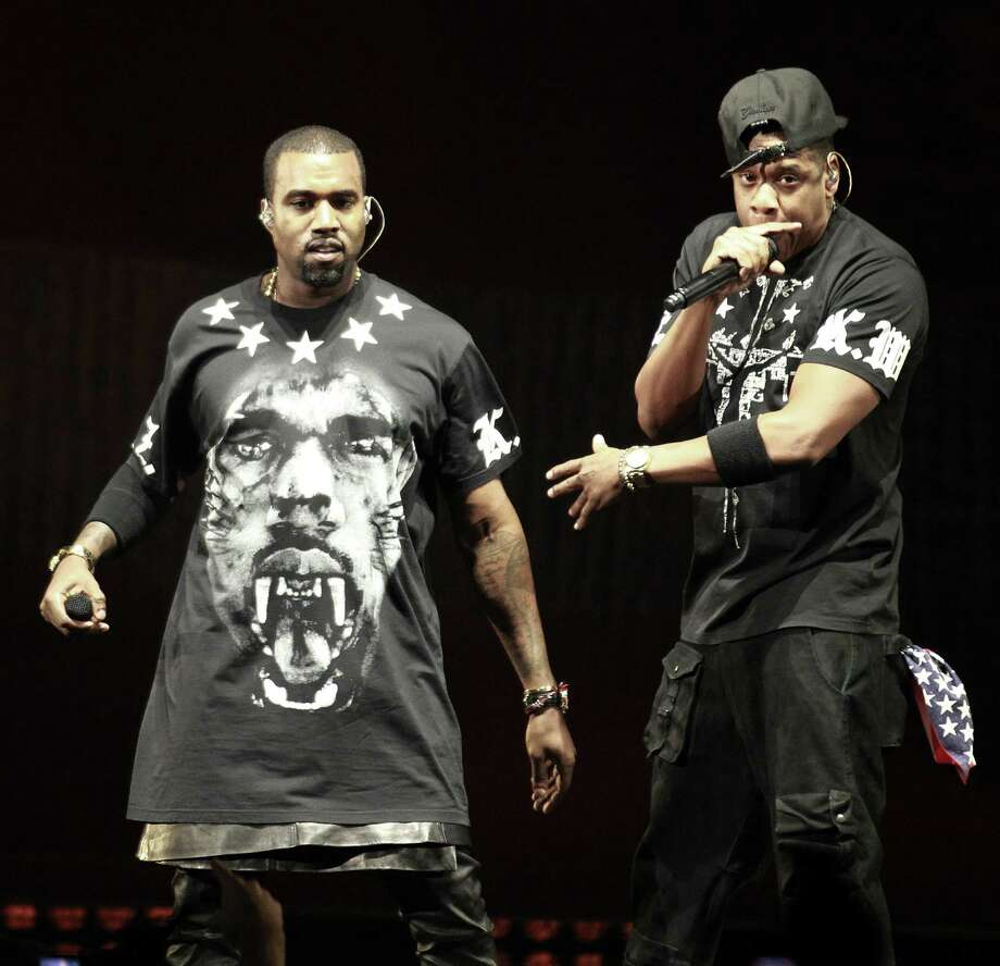 Kanye West (left) and Jay Z have concerts scheduled this month at the AT&T Center.