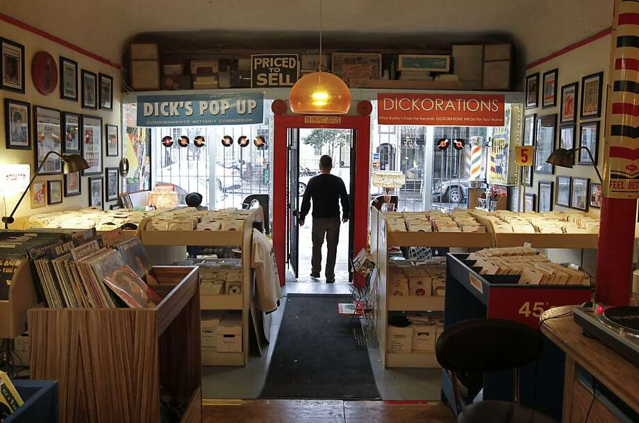 Rooky Ricardo's Records on Haight Street in San Francisco specializes in vinyl albums and has become something of a neighborhood hangout and audiophile attraction. Interest in the format is growing. Photo: Michael Macor, The Chronicle