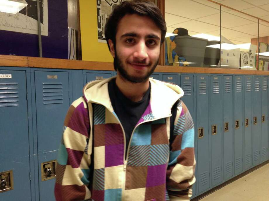 Dawud Haider, a sophomore at Schalmont High School, is thankful for the opportunity to take advanced classes.
