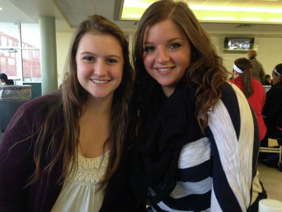 Lauren Mahar (left) and Marlena Mareno (right) seniors at Schalmont High School, are both thankful for their friends.