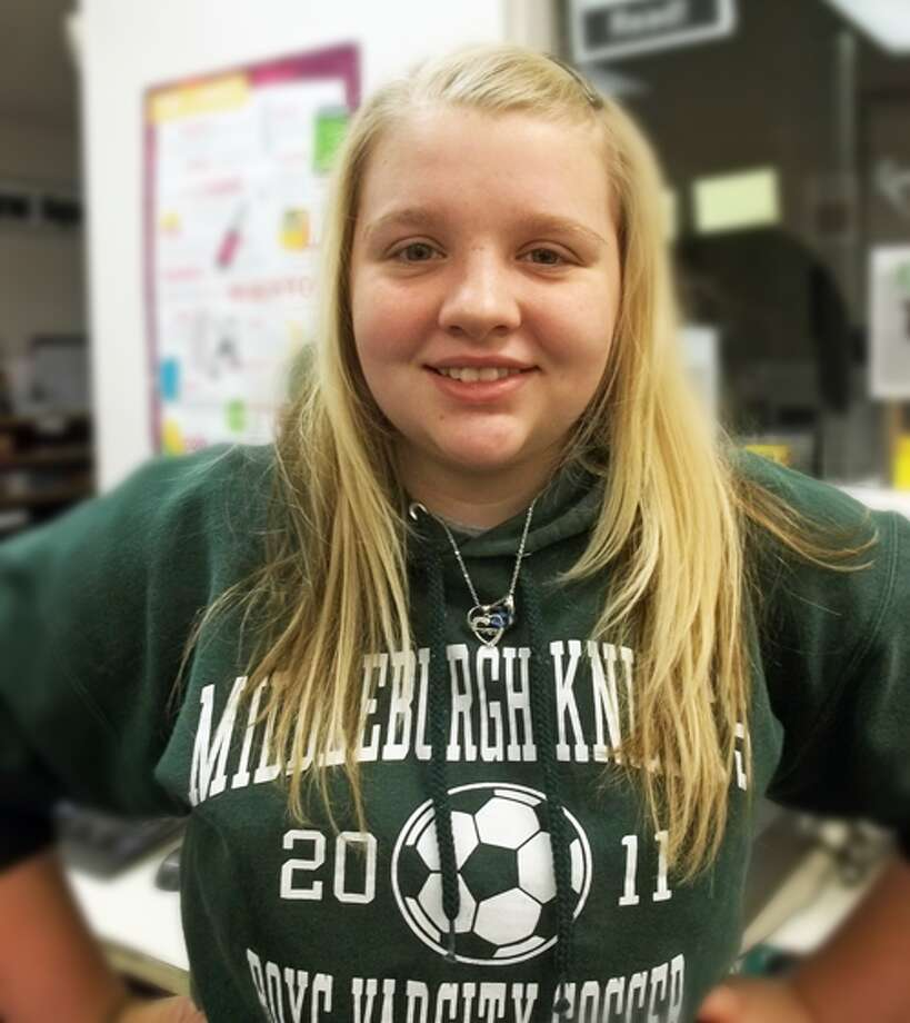 Caitlen Page, 17, Middleburgh High School, says she's thankful for her family and her boyfriend. Photo: Courtney N. Mooney