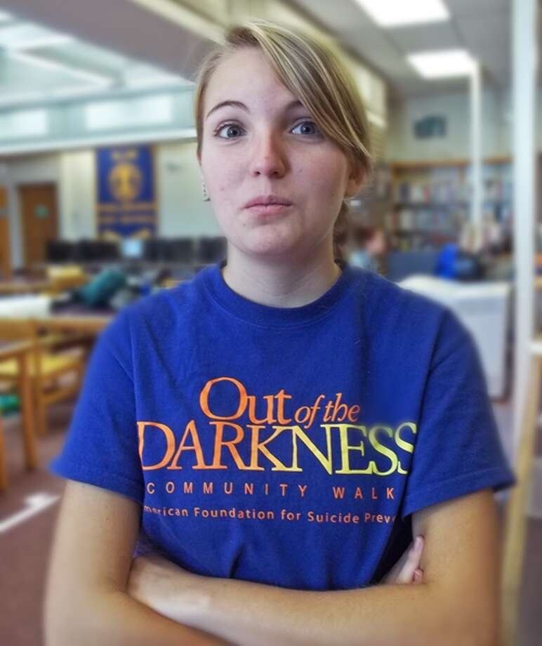 Kaitlyn Atchinson, 17, Middleburgh High School, says she's thankful for family. Photo: Courtney N. Mooney