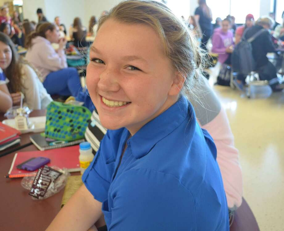 Kristen Norray, 14, Berne-Knox-Westerlo CSD, says she is thankful for great friends. Photo: Audrey Goodemote
