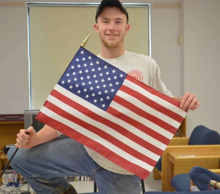 Alex Chauvot, 17, Berne-Knox-Westerlo CSD, says he's thankful for America. Photo: Audrey Goodemote