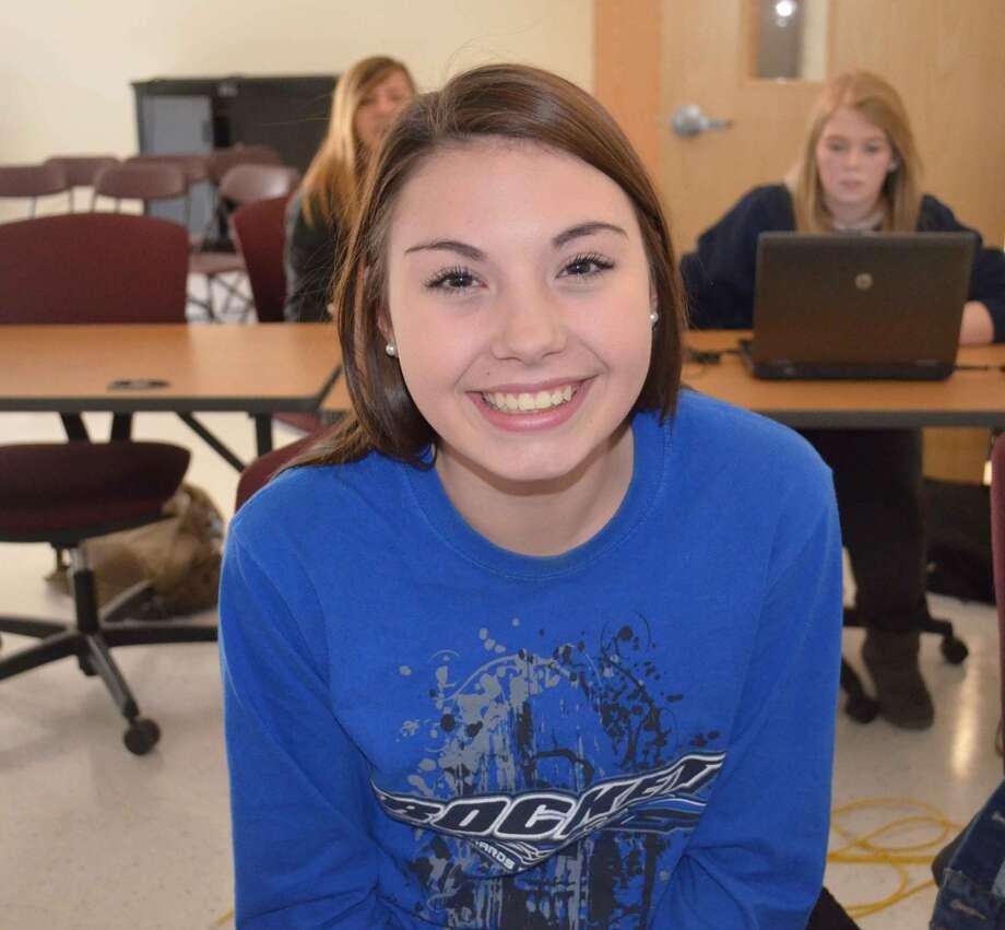 Kenzie Weiler, 16, Berne-Knox-Westerlo CSD, says she is thankful for her boyfriend. Photo: Audrey Goodemote