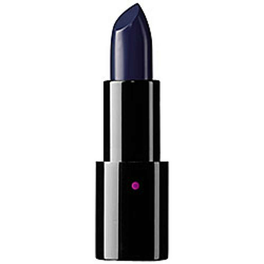 "Modster Long Play Supercharged Lip Color in ""Black is Blue,"" $25, at www.sephora.com."