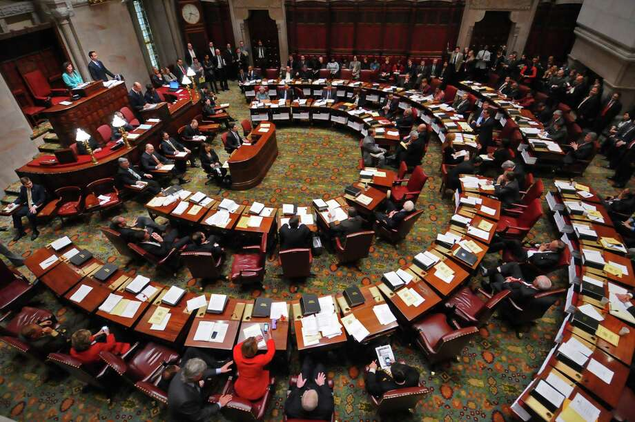 Individual votes of New York State Senators are recorded as the Senate eventually failed to get the necessary 32 votes to rescue NYC OTB,   in Albany, NY  on Tuesday December 7, 2010. ( Philip Kamrass / Times Union ) Photo: Philip Kamrass / 00011315A