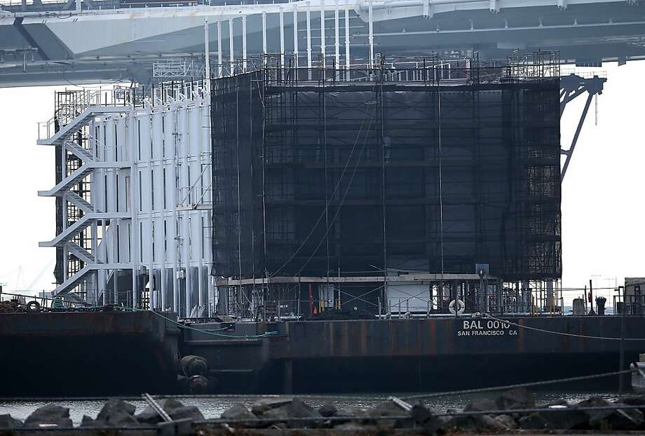 A barge being built near Treasure Island is one of three Google is planning, a budget report from the builder says. Photo: Justin Sullivan, Getty Images