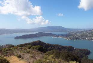 The view from the top of Mt. Livermore on Angel Island State Park.     Photo credit: Casey Lee, California State Parks
