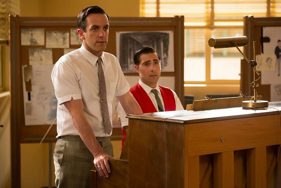 "B.J. Novak (left) and Jason Schwartzman play the songwriting Sherman brothers in ""Saving Mr. Banks."" Photo: Disney 2013"