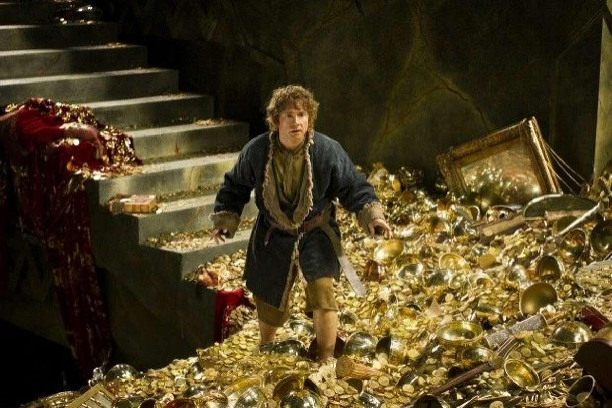 Martin Freeman as Bilgo Bagins in The Hobbit: The Desolation of Smaug.