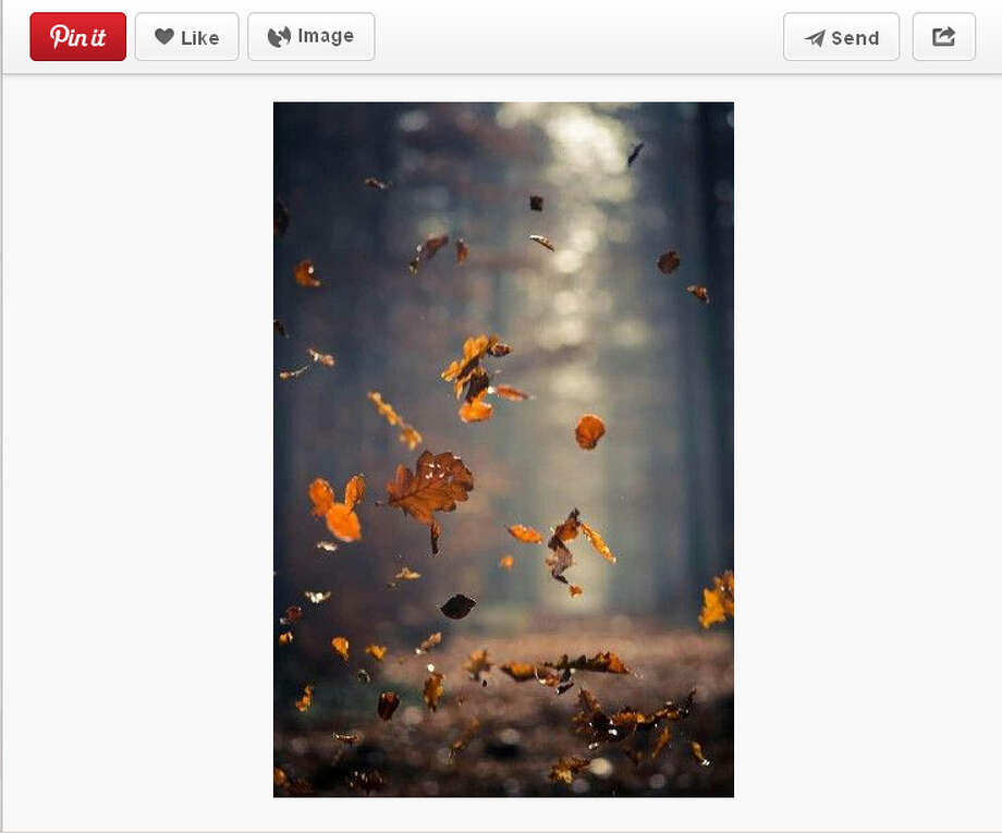 Is there anything more romantic that the sight and sounds of falling leaves? Photo: Screengrab From Pinterest.com