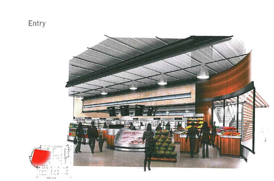 This graphic represents a conceptual look at the entrance ofthe proposed H-E-B downtown grocery store, which a letter writer supports, saying it would be good both for down- town and for the King William neighborhood. Photo: Courtesy Illustration