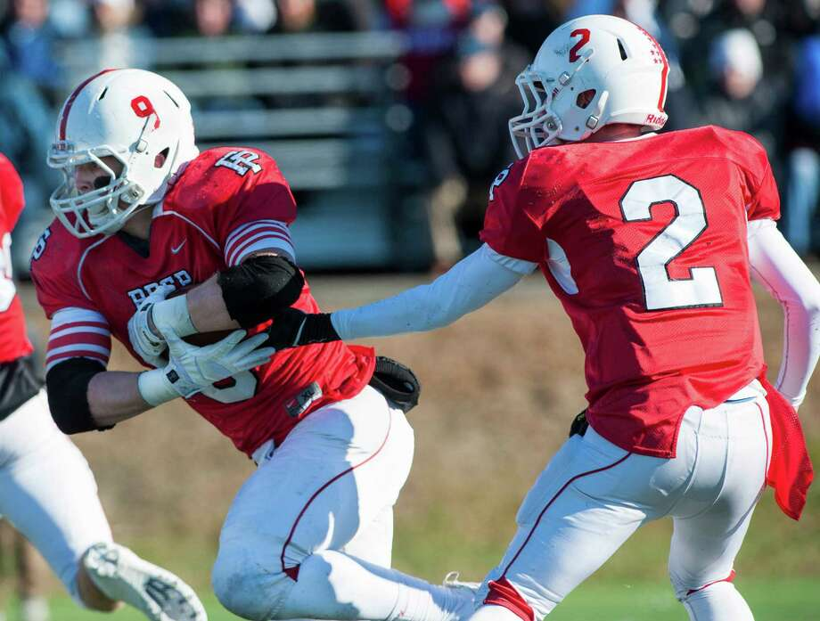 Fairfield Prep against West Haven high school during a Thanksgiving Day football game played at Alumni field, Fairfield University, Fairfield, CT on Thursday, November 28th, 2013. Photo: Mark Conrad / Connecticut Post Freelance