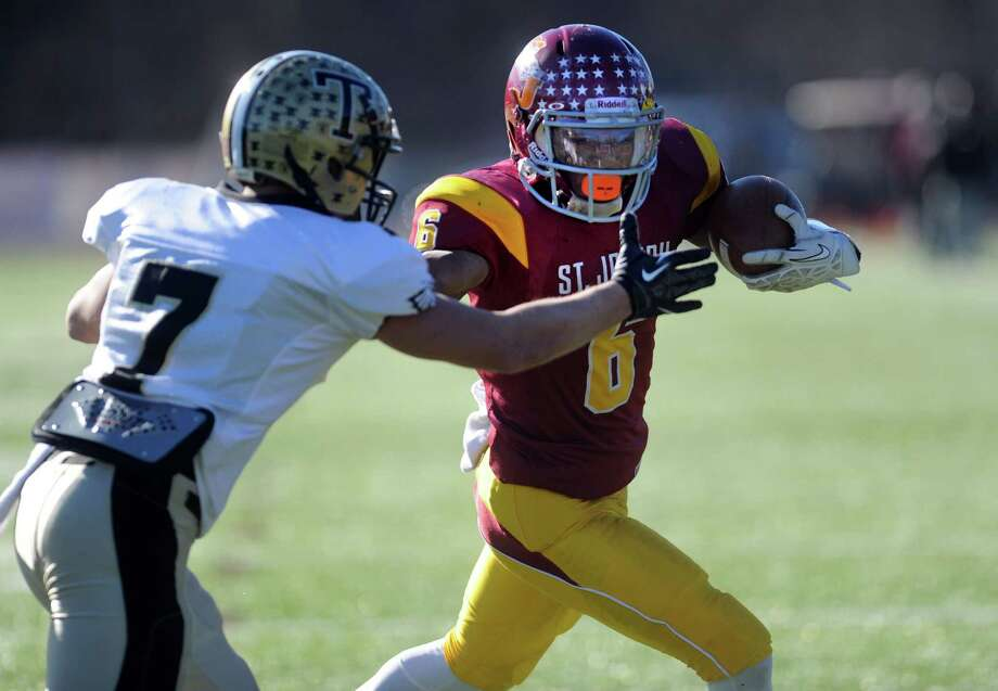 Scenes from the annual Thanksgiving Day football game between Trumbull and St. Joseph Thursday, Nov. 28, 2013 at St. Joseph High School in Trumbull, Conn. Photo: Autumn Driscoll / Connecticut Post