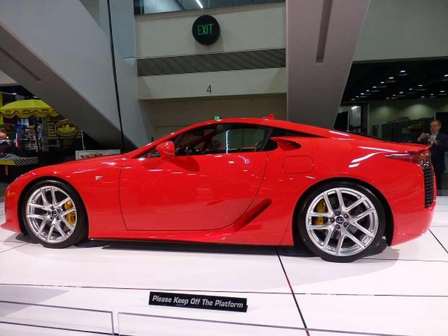 The Lexus LFA. Not for the faint of wallet, it starts at $375,000.... that is, if you can find one. A Lexus rep says they made 500 cars, all of which have been sold. One hundred and seventy-five are in the U.S. The car has a 552-horsepower V10 engine. This two-seater does zero to 60 in 3.6 seconds and has a top speed of 202 mph.