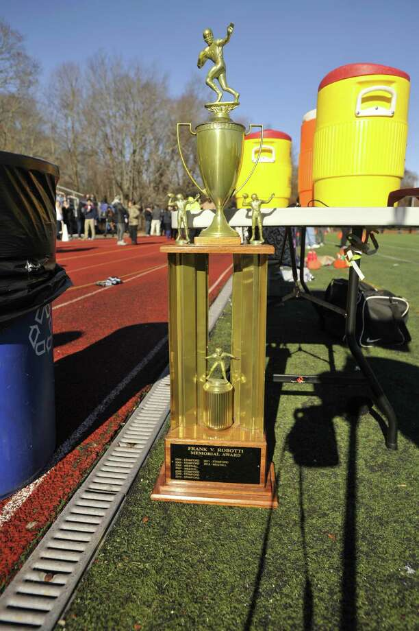 The City Championship game took place at Westhill High School in Stamford, Conn., on Thanksgiving Day, Thursday, Nov. 28, 2013. Westhill beat Stamford, 40-0 to win the City Championship and the Frank Robotti trophy. Photo: Jason Rearick / Stamford Advocate