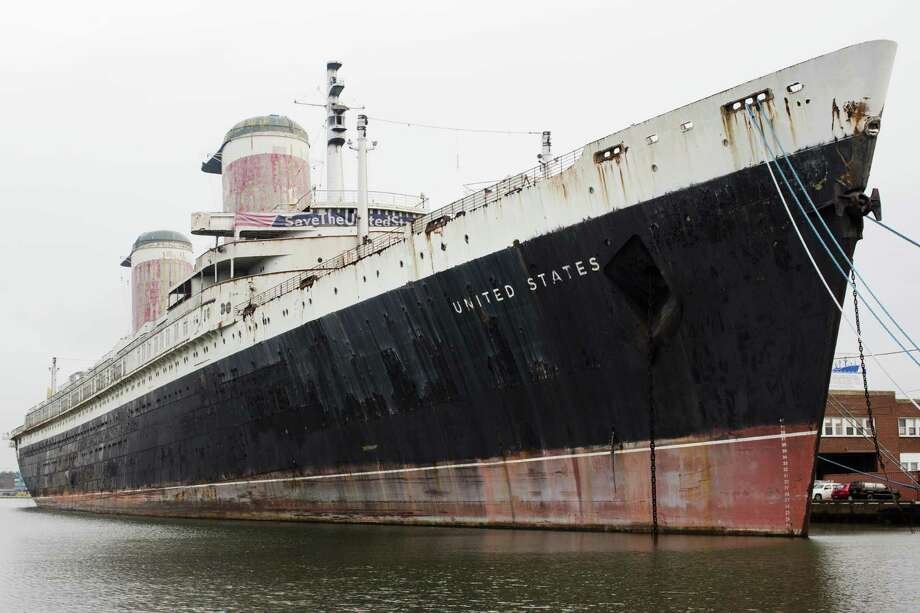 The SS United States has been in a pier on the Delaware River, across from a shopping center in Philadelphia, since 1996. A conservancy bought the ship in 2010 for $5.8 million. Photo: Matt Rourke / Associated Press