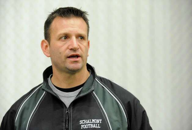 Schalmont High School football head coach Joe Whipple during practice at the Halfmoon Sportsplex on Wednesday Nov. 27, 2013 in Halfmoon, N.Y. (Michael P. Farrell/Times Union) Photo: Michael P. Farrell / 00024827A