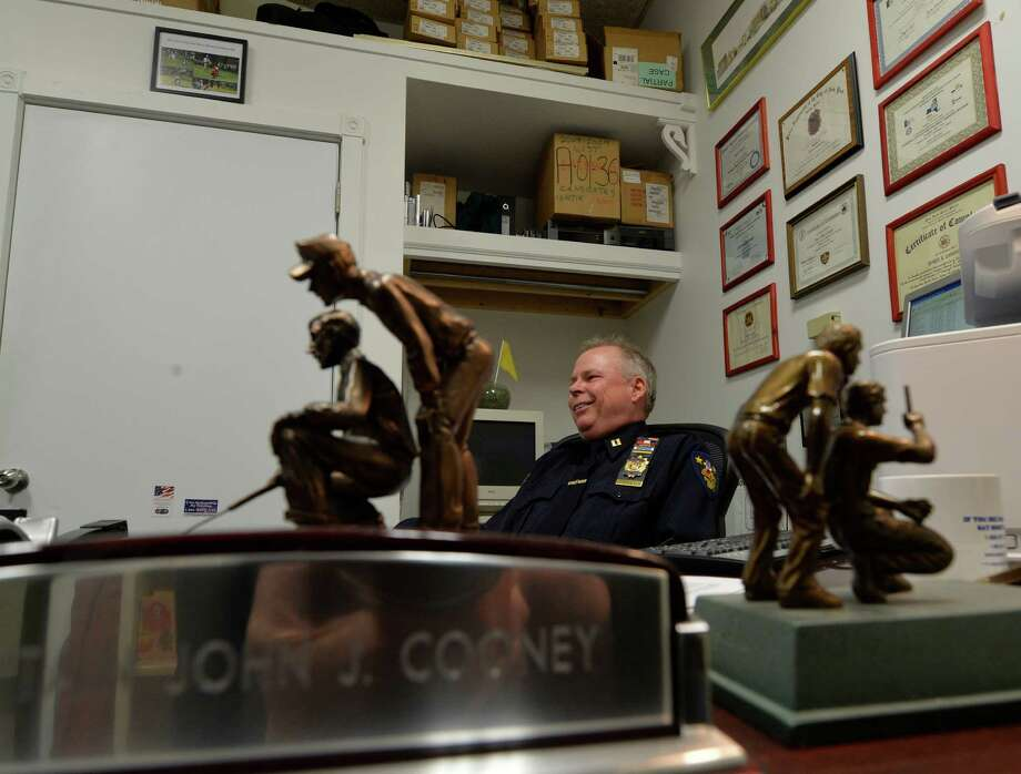 Captain John Cooney of the Troy Police speaks to the Times Union on various subjects at his office Tuesday afternoon Nov. 26, 2013, in Troy, N.Y.   (Skip Dickstein/Times Union) Photo: SKIP DICKSTEIN / 00024781A