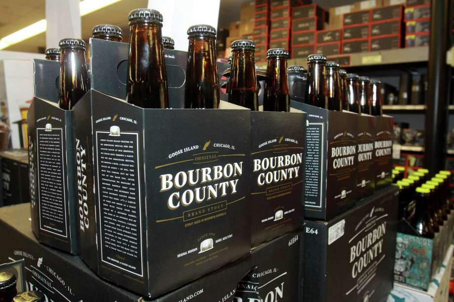 Bourbon County Brand Stout, from Goose Island Beer Co., being release by Spec's Wines, Spirits and Beer on Smith Street for the first-time-in-Texas. Photo: Gary Fountain, For The Chronicle / Copyright 2013 Gary Fountain.