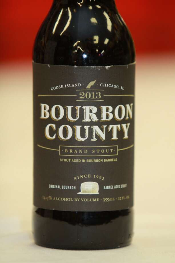 Bourbon County Brand Stout, from Goose Island Beer Co., being release by Spec's Wines, Spirits and Beer on Smith Street for the first-time-in-Texas. Photo: Gary Fountain, For The Chronicle