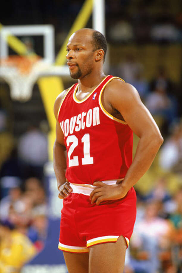 World B. Free #21 of the Houston Rockets waits during a game in the1987-88 season against the Los Angeles Lakers at the Forum in Inglewood, California.  Photo: Rick Stewart, Getty Images / 1987 Getty Images
