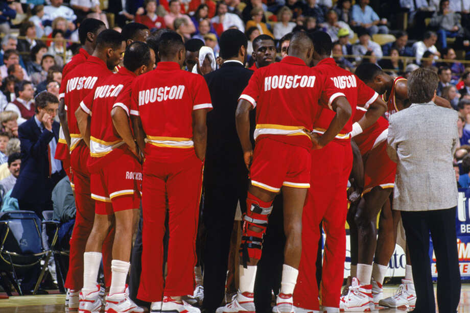 The Rockets franchise came into its own in the 1980s, reaching the Finals for the first time in 1982 (eventually losing to the Celtics 4-2). By the end of the '80s, the Rockets were a postseason regular, making the NBA playoffs 14 our of 15 seasons between 1985 and 1999.  Here are some of our favorite Rockets from the 1980s ... Photo: Ken Levine, Getty Images / 1989 Getty Images