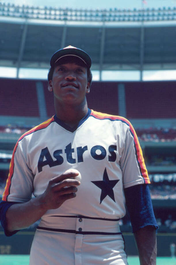 Pitcher JR Richard of the Hosuton Astros poses for aportrait prior to a game in 1980 against the Cincinnati Reds at Riverfront Stadium in Cincinnati, Ohio.  (Photo by:  Diamond Images/Getty Images) Photo: Diamond Images, Diamond Images/Getty Images / 1980 Diamond Images