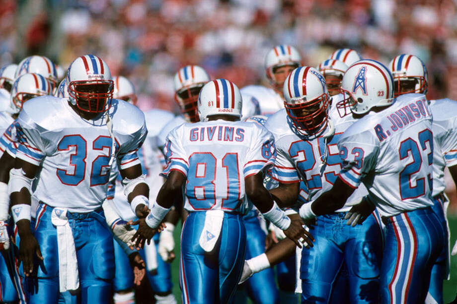 The Oilers began in the 1980s in auspicious fashion: with the firing of head coach Bum Phillips by owner Bud Adams after an 11-5 season. The Oilers toiled in mediocrity for much of the rest of the decade before a rejuvenated team led by coach Jerry Glanville and quarterback Warren Moon helped the team back to a winning record in 1987. Here are some of our favorite Oilers from the 1980s ... Photo: George Rose, Getty Images / 1987 Getty Images
