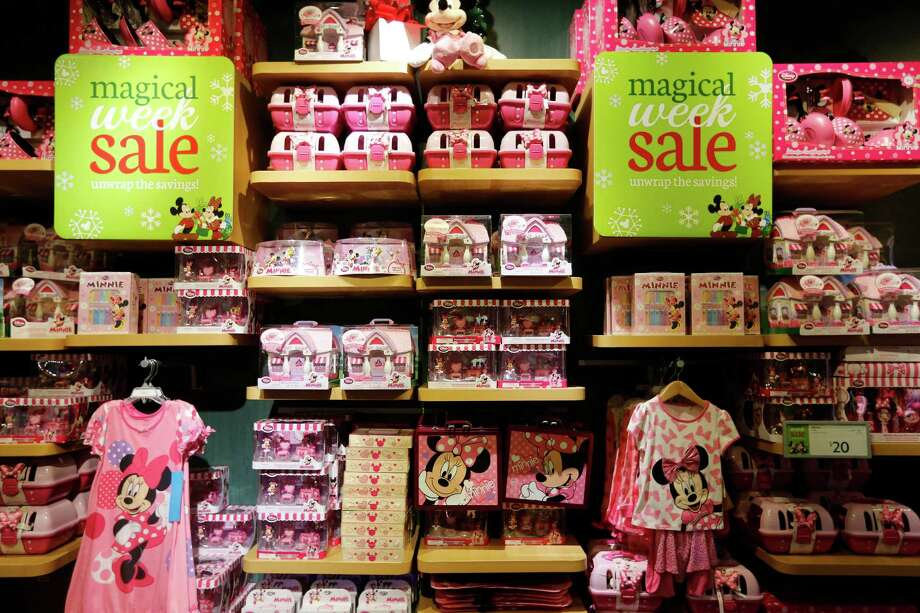 "A store display is seen, Friday, November 29, 2013 during The Disney Store's Black Friday ""magical sale"" at the Galleria mall in Houston, Texas. The sale featured 20% off every item in the store along with other deals. (TODD SPOTH FOR THE CHRONICLE) Photo: © TODD SPOTH, 2013 / © TODD SPOTH, 2013"