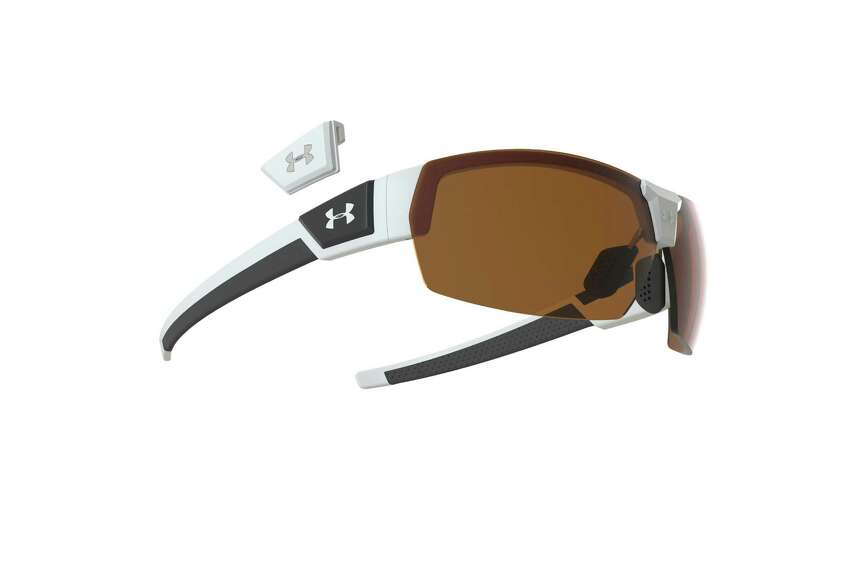Under Armour Drive sunglasses: PGA Tour player Hunter Mahan wears these shades, which protect eyes from 100 percent of UV rays. The sunglasses feature a lightweight, durable frame and scratch-resistant lenses that deliver enhanced visual contrast. $134.99 at underarmour.com
