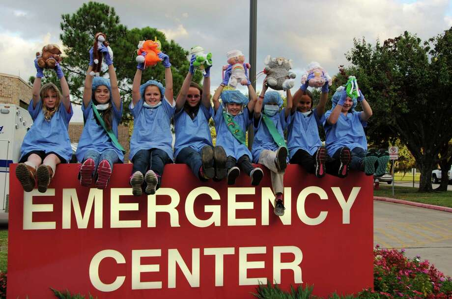 Local Junior Girl Scouts learned about first aid and hospitals at the Tomball Regional Medical Center. Photo: Provided By Tomball Regional Medical Center