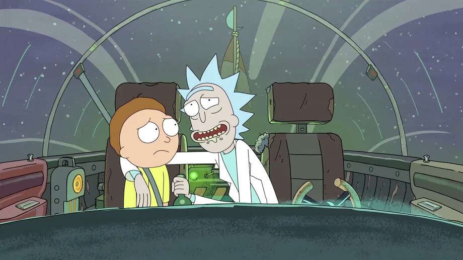 (L to R) Morty and his grandfather Rick, both voiced by creator Justin Roiland, go on epic space adventures in Rick and Morty. The new 30-minute animated series premieres Monday, December 2nd at 10:30 p.m. (ET/PT) on Adult Swim. / ONLINE_YES