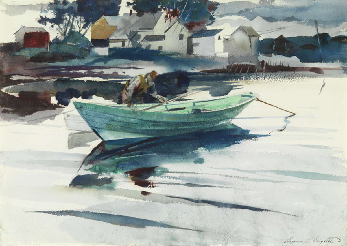 """""""The Green Dory"""" (1940, watercolor on paper)"""