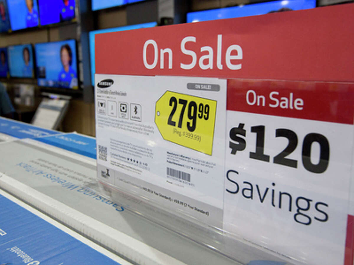 Most electronic goods, including tv sets, are on sale Friday, Nov. 29, 2013 in the Pembroke Pines, Fla. Best Buy store. Black Friday, the day after Thanksgiving, is the nation's biggest shopping day of the year.