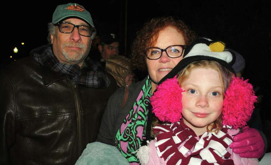 Were you SEEN at the Bethel Chamber of Comerce's Annual Tree Lighting? Friday, November, 29, 2013. John Welfeld, Sarah Hower and Gwendolyn Welfeld. Photo: Wendy Mitchell