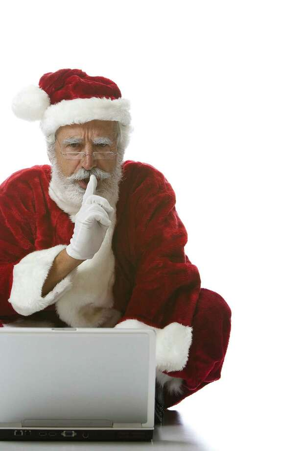 Even Santa is looking to get the best bang for his buck on Cyber Monday. Photo: Getty Images