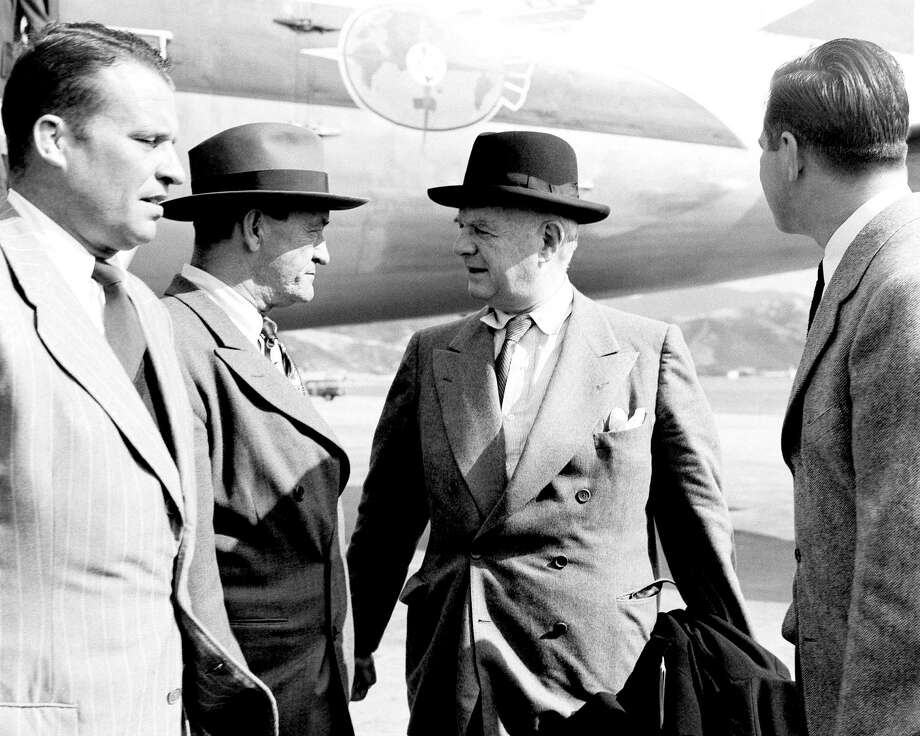 """Gen. William """"Wild Bill"""" Donovan (center), head of America's Office of Strategic Services, is seen in this photograph from 1950. The OSS later became the Central Intelligence Agency. Photo: Associated Press / File Photo / AP"""