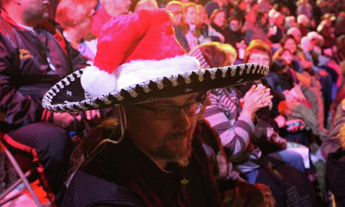 Sonny Quintanilla takes in the sights at the Arneson River Theatre during the 2013 Ford Holiday River Parade