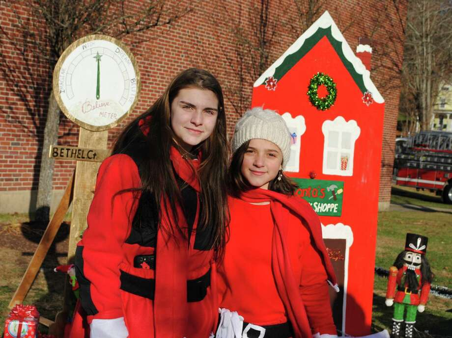 Were you SEEN at Bethel Chamber of Commerce Annual Winter Fest? Friday, November 29, 2013. Bethel Girl Scouts Troop #50094 members Danielle Wildman and Christiana Ruiz made a Christmas Village for their Silver Award. Photo: Wendy Mtichell