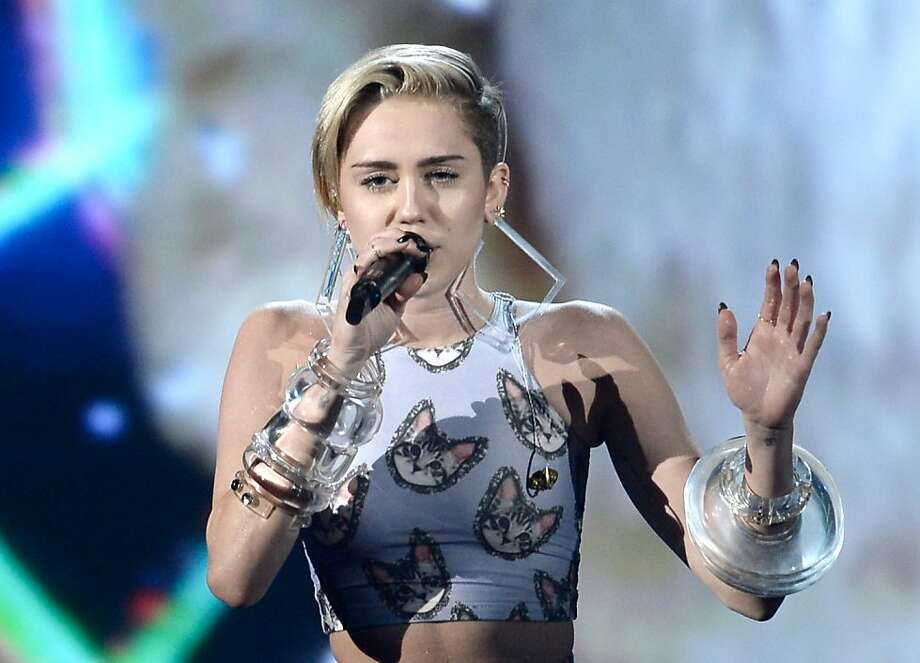 Miley Cyrus was #1 in the list of top searches according to Yahoo's 2013 Year in Review. Photo: Kevin Winter, Getty Images
