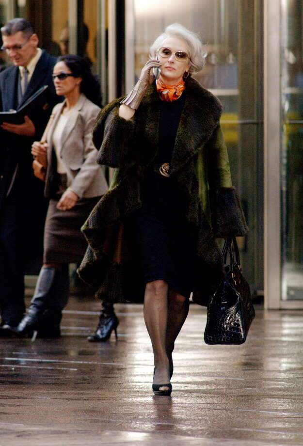 In this photo provided by 20th Century Fox,  Miranda Priestly (Meryl Streep)  is one of the most powerful woman in fashion, oversees Runway Magazine, the Holy Grail of fashion, in 'The Devil Wears Prada.'  (AP Photo/20th Century Fox/Barry Wetcher) Photo: BARRY WETCHER / 20TH CENTURY FOX