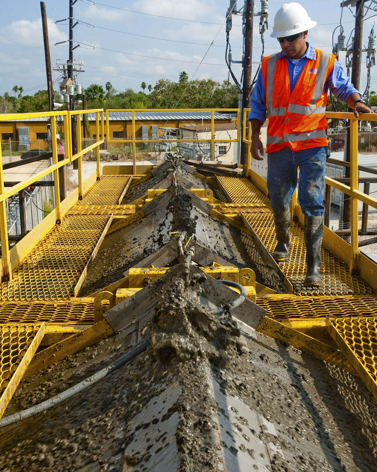Brownsville-Harlingen Average hourly wage: $16.41 Average cost-of-living adjusted wage: $19.66Change: +3.25Photo: Enrique Lucio Jr., a worker from Brownsville's Public Utilities Board, monitors the steady flow of material being pumped from a local resaca.
